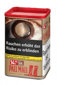 Pall Mall Authentic  Red XL Tabak  / 65g Dose