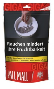 Pall Mall Red Giga Tabak / 150g Beutel