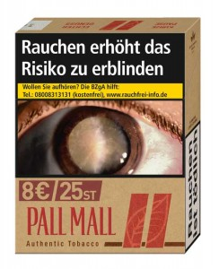 Pall Mall Authentic Red 8,00 Zigaretten