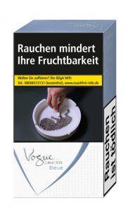 Vogue Caractère Bleue Slimsize Zigaretten