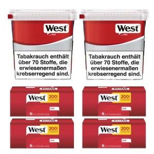 West Red Giga Box Angebot, 2x280g Box + 4x200 Hülsen