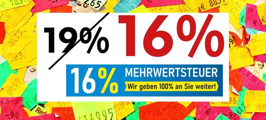16% MwSt.